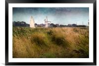 Yacht at Thurne Mill, Framed Mounted Print