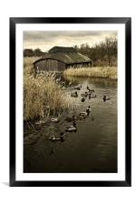 Thatched Boat House, Framed Mounted Print