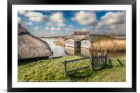 Boathouses at Hickling Broad, Framed Mounted Print