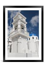 Pole, Bell, Dome, Cross, Framed Mounted Print