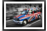 Flag down a taxi, Framed Mounted Print