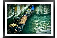 Venice Waterway, Framed Mounted Print