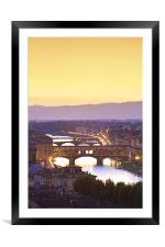 Ponte Vecchio, Florence, Framed Mounted Print
