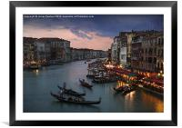 View from Rialto Bridge, Venice, Framed Mounted Print