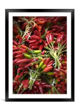 Red Chillies, Framed Mounted Print