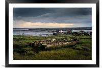 Wrecks on the River Medway, Framed Mounted Print