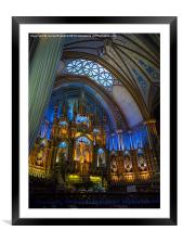 Montreal Cathedral interior, Framed Mounted Print