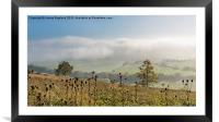 Foggy View from Holly Hill, Framed Mounted Print