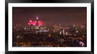 Firework Celebrations over the City, Framed Mounted Print