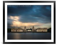 Royal Naval College, Greenwich, Framed Mounted Print