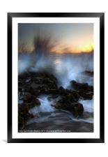 Dawn Explosion, Framed Mounted Print