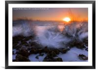 Sunrise Explosion, Framed Mounted Print
