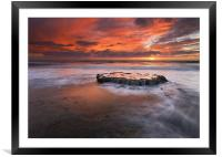 Island in the Storm, Framed Mounted Print