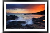 Sunset Storm Passing, Framed Mounted Print
