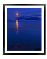 Moon Rising over Mt. Edgecumbe, Framed Mounted Print