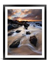 Surrounded by the Tides, Framed Mounted Print