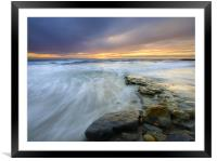 Swept out to Sea , Framed Mounted Print