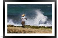 Man versus the Sea, Framed Mounted Print