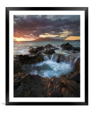 Sunset Caldron, Framed Mounted Print