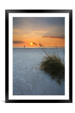 A walk on the Beach, Framed Mounted Print