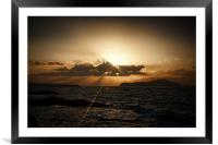 Sunset in Chania 2, Framed Mounted Print