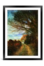 A Colourful Walk., Framed Mounted Print