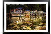 Boats on the Broads 7, Framed Mounted Print