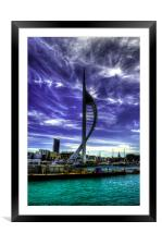 Spinnaker Tower, Framed Mounted Print