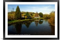 The River Exe at Bickleigh, Framed Mounted Print