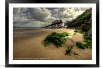 The Lifeboat Ramps at Tenby, Framed Mounted Print