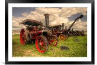 Traction Engines at the Great Dorset, Framed Mounted Print