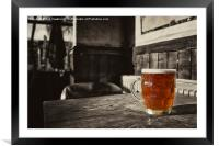 Pint in a Jug , Framed Mounted Print