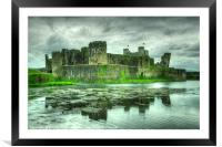 Caerphilly Castle , Framed Mounted Print