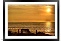 Take a Seat at Croyde, Framed Mounted Print