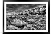On The Rocks, Framed Mounted Print