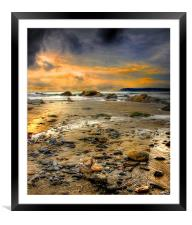 Pebble Beach, Framed Mounted Print