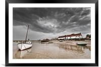Burham Overy Staithe Storms, Framed Mounted Print