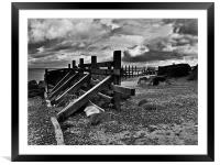 Happisburgh Sea Defences, Framed Mounted Print