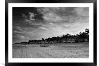 Clouds over the Huts Two Mono, Framed Mounted Print