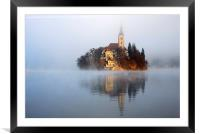 Through the mist, Framed Mounted Print