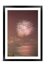 2009 - 2010 New Years Eve fireworks in Nice, Prove, Framed Mounted Print