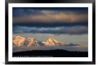 Mountain peaks, Kamnik Alps, Slovenia., Framed Mounted Print