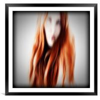 Red head, Framed Mounted Print
