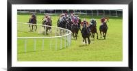 Galway Races Final Bend, Framed Mounted Print