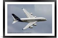 A380 Display aircraft, Framed Mounted Print