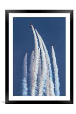 RAF Red Arrows 5/4 split, Framed Mounted Print