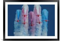 Red Arrows roll out, Framed Mounted Print