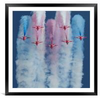 Red Arrows Duxford, Framed Mounted Print