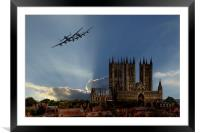 Lancasters over Lincoln, Framed Mounted Print