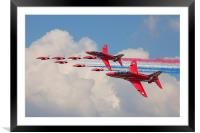 Red Arrows 50th anniversary, Framed Mounted Print